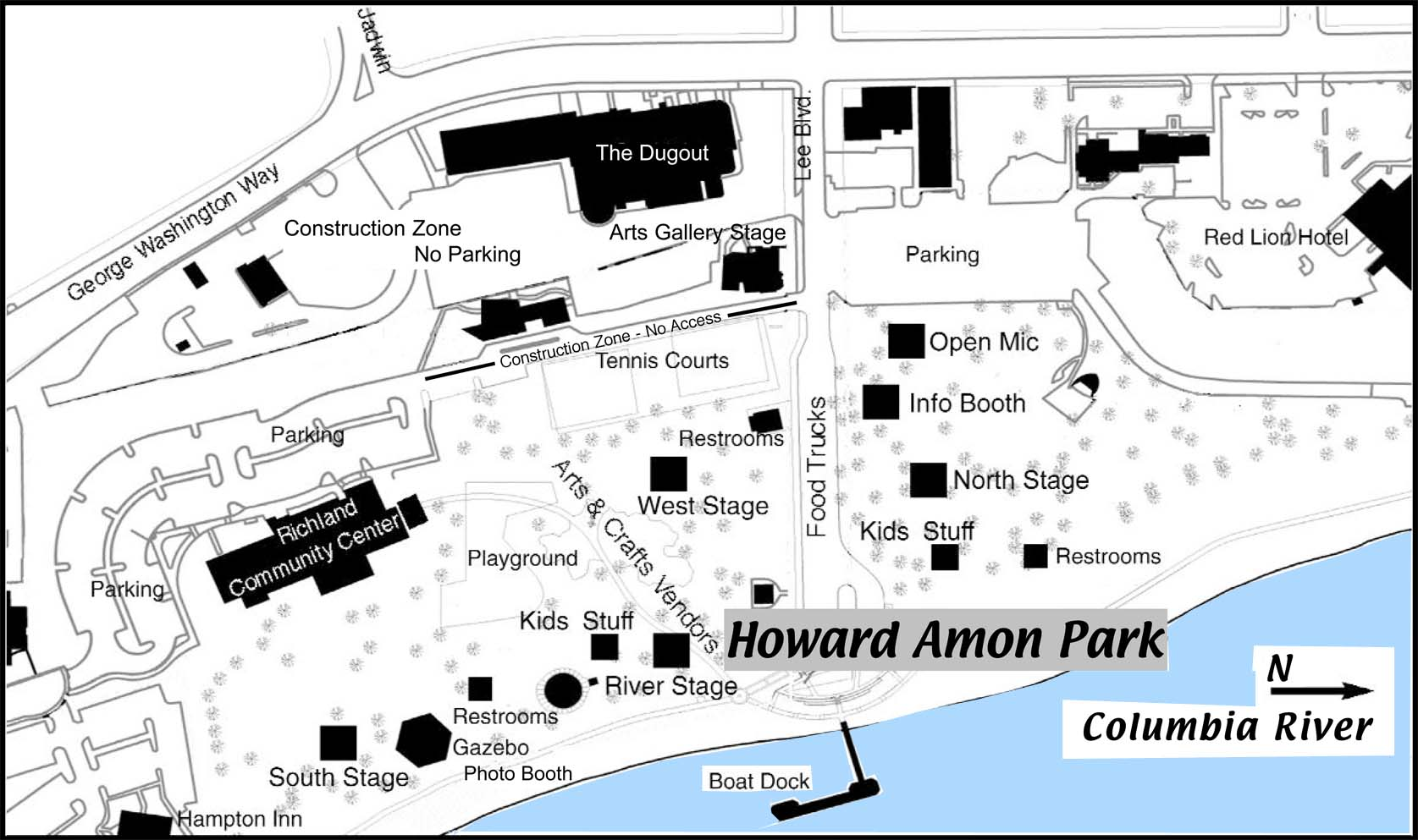 Howard Amon Park Map
